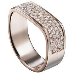 18 Karat Pink Gold Lana Double Diamond Pinky Ring