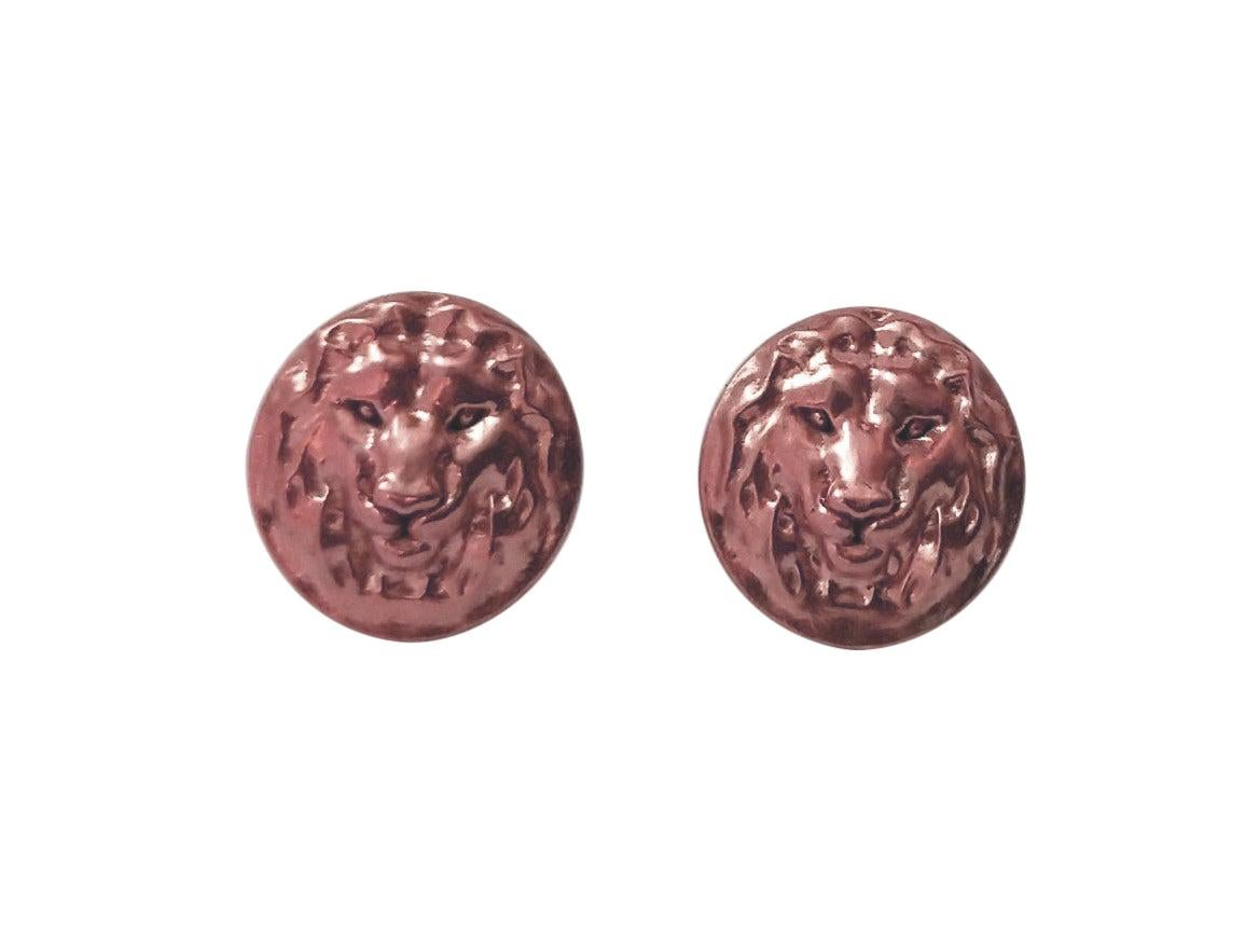 18 Karat Pink Gold Lion Earrings