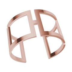 18 Karat Pink Gold Rectangle Cuff Bracelet