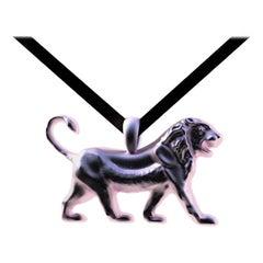 18 Karat Pink Gold Vermeil Persepolis Lion Pendant Necklace