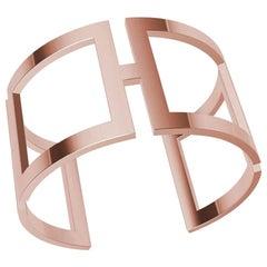 18 Karat Pink Gold Vermeil Rectangle Cuff Bracelet