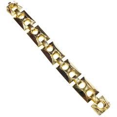 18 Karat Retro Period Chunky Gold Bracelet