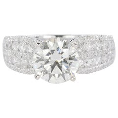 18 Karat Ring with 2.04 GIA Certified Round Brilliant