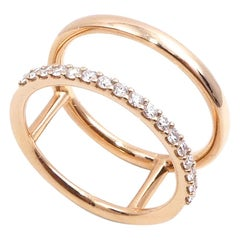 18 Karat Rose Gold 0.26 Carat White Diamonds Ring