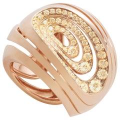 18 Karat Rose Gold 1.20 Carat White Diamonds Band Ring