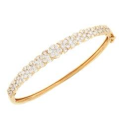 18 Karat Rose Gold 3.28 Carat Diamond Bangle