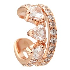 18 Karat Rose Gold and 0.29 Carat Colorless Diamonds Spear Ear Cuff by Alessa
