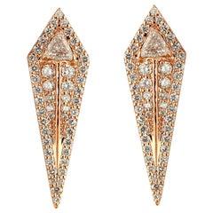 Alessa Arrow Studs Earrings 18 Karat Rose Gold Amara Collection
