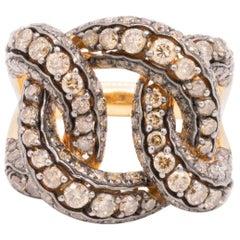 18 Karat Rose Gold and Brown Diamond Ring