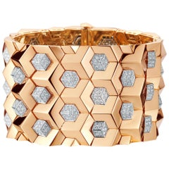 18 Karat Rose Gold and Diamond 7.75 Carat Brillante Bracelet