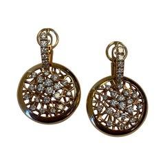 18 Karat Rose Gold and Diamond Drop Earrings