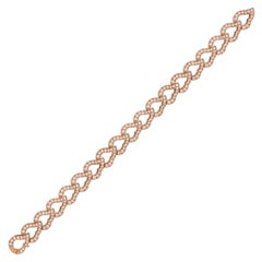 18 Karat Rose Gold and Diamond Kashmir Chain Bracelet