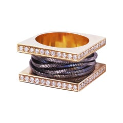 18 Karat Rose Gold and Diamonds Ring