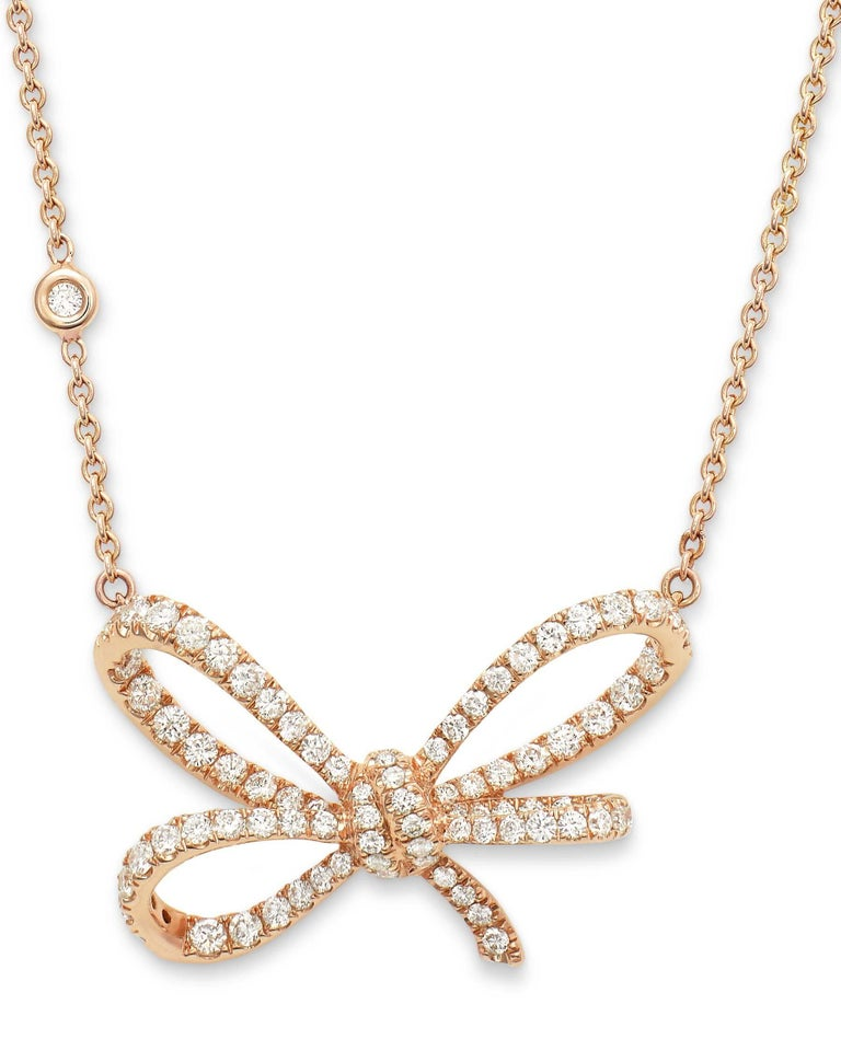 18 Karat Rose Gold and White Diamonds Cocktail Ring and Pendant In New Condition For Sale In Mayfair, London, GB