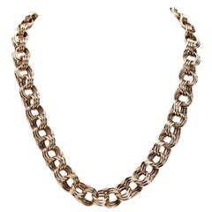 18 Karat Rose Gold Argentinian Triple Looped Necklace