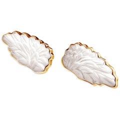 18 Karat Rose Gold Artisan Cufflinks Designed by the Artist with Quartzes