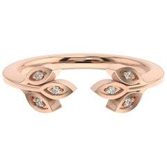 18 Karat Rose Gold Aster Floral Diamond Ring '1/20 Carat'