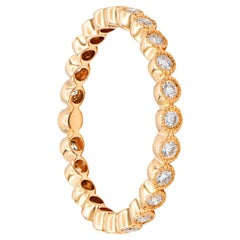 18 Karat Rose Gold Bezel Set Eternity Ring