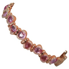 18 Karat Rose Gold Bracelet with Pink Sapphires