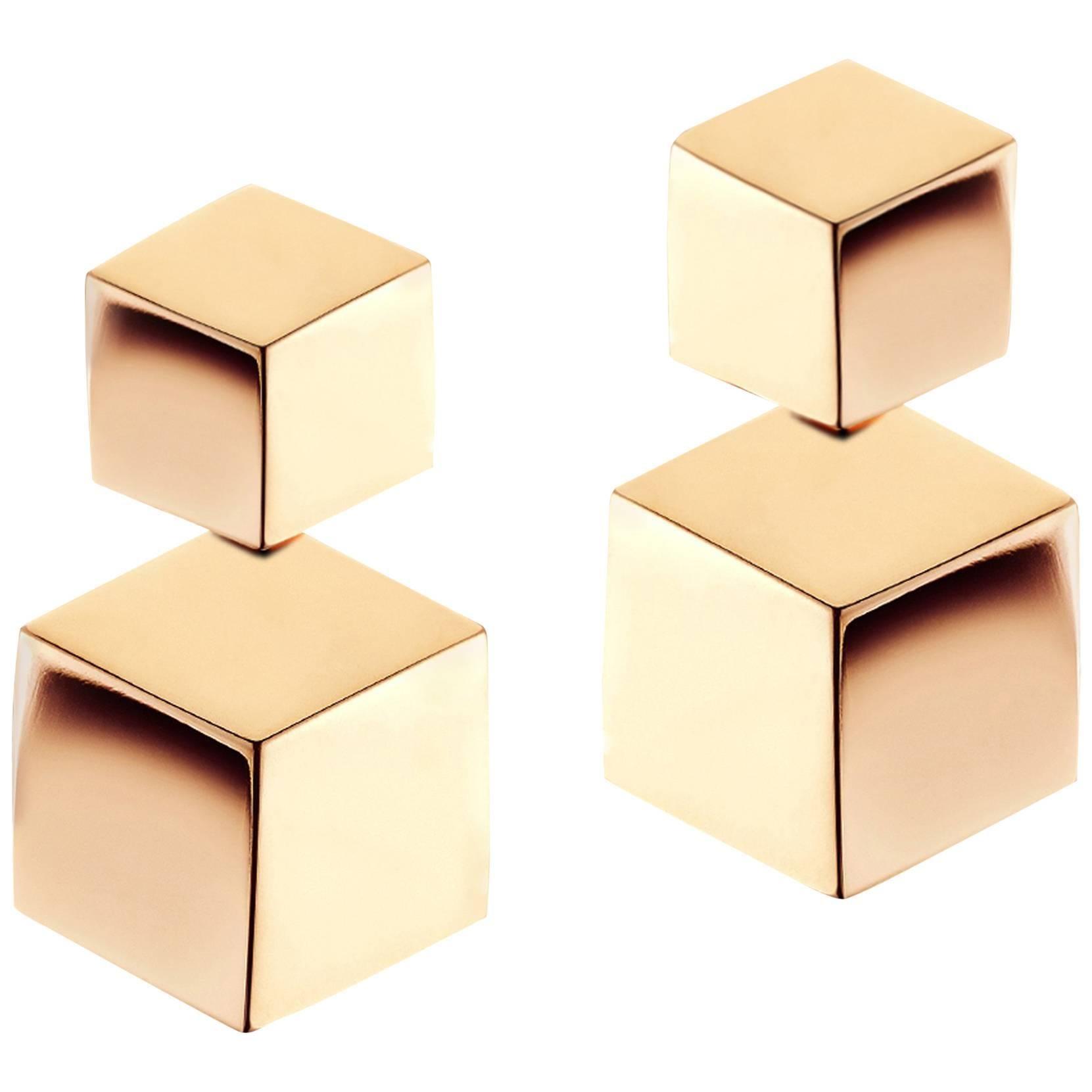 Paolo Costagli 18 Karat Rose Gold Brillante Drop Earrings