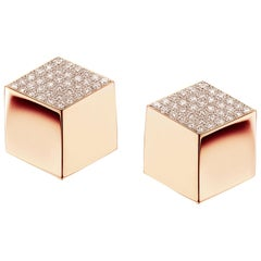 Paolo Costagli 18 Karat Rose Gold Brillante Earrings with Diamonds, 0.96 Carat