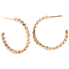 Paolo Costagli 18 Karat Rose Gold Brillante Hoop Earrings