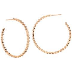 Paolo Costagli 18 Karat Rose Gold Brillante Hoops, Grande