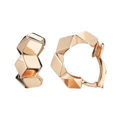 18 Karat Rose Gold Brillante Huggie Earrings