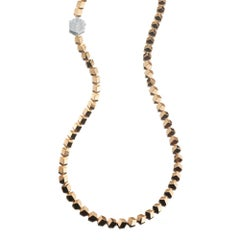 18 Karat Rose Gold Brillante Necklace with Diamond Clasp, 0.97 Carat