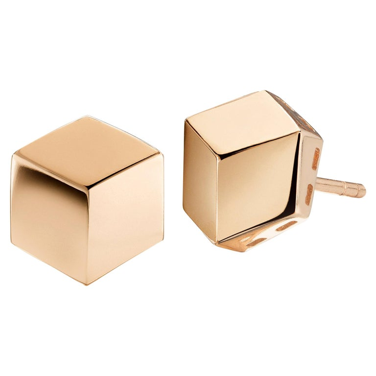 Paolo Costagli 18 Karat Rose Gold Brillante Stud Earrings For Sale