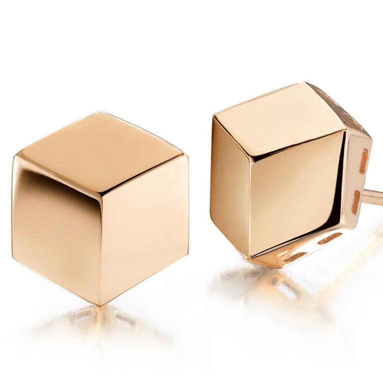 Paolo Costagli 18 Karat Rose Gold Brillante Stud Earrings, Grande In New Condition For Sale In New York City, NY