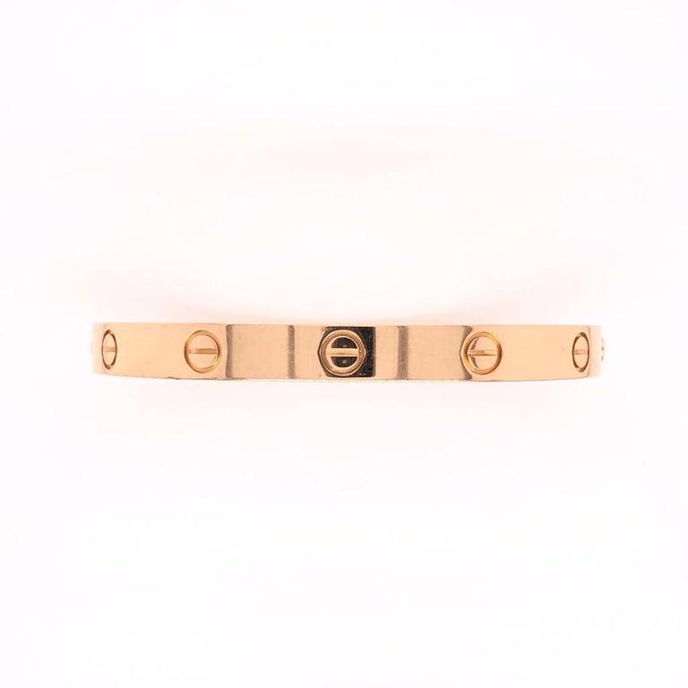 18 Karat Rose Gold Cartier Love Bracelet Bangle For Sale 1