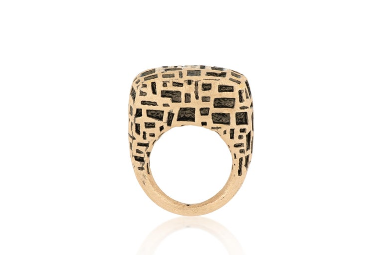 Contemporary 18 Karat Rose Gold Cocktail Ring For Sale