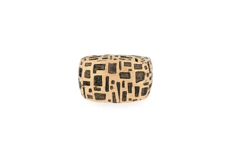 Women's or Men's 18 Karat Rose Gold Cocktail Ring For Sale