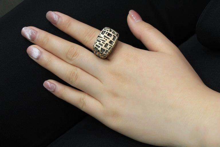 18 Karat Rose Gold Cocktail Ring For Sale 1