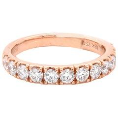 18 Karat Rose Gold Diamond Band