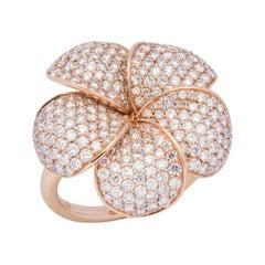 18 Karat Rose Gold Diamond Cocktail Ring