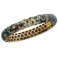 18 Karat Rose Gold Diamond Encrusted Bracelet