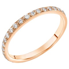 18 Karat Rose Gold Diamond Eternity Ring Measuring Two Millimeter