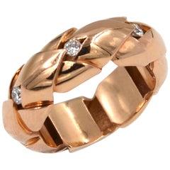 18 Karat Rose Gold Diamond Garavelli Ring