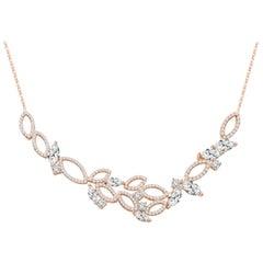 18 Karat Rose Gold Diamond Garden Necklace