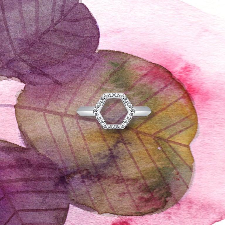 18 Karat Rose Gold Diamond Halo Ring For Sale 4