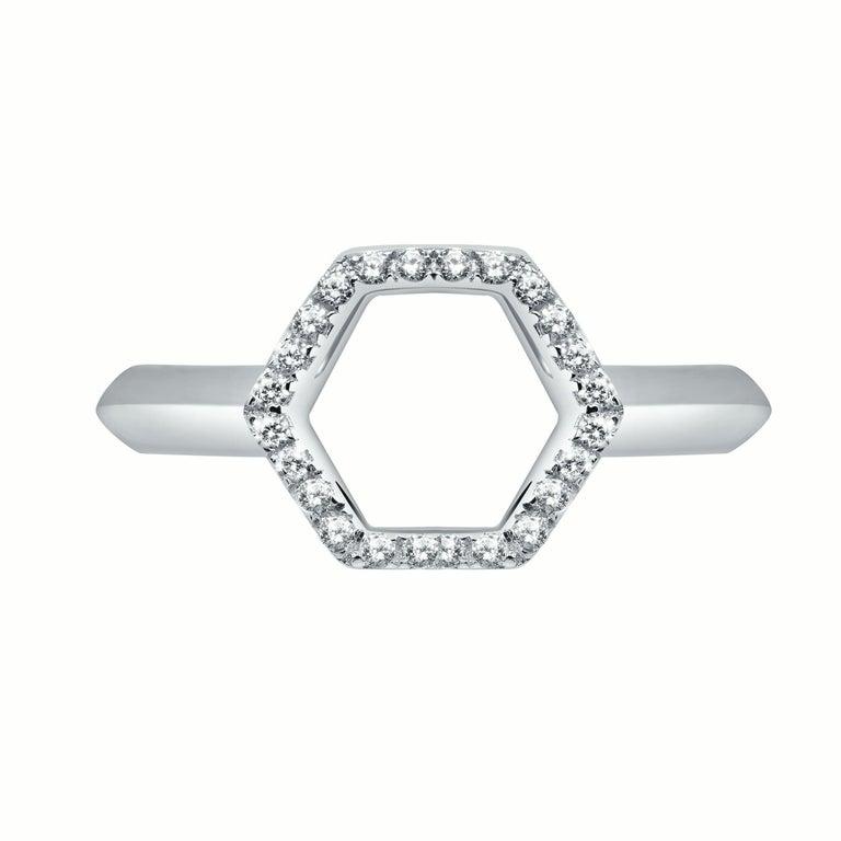 18 Karat Rose Gold Diamond Halo Ring For Sale 1