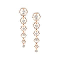 18 Karat Rose Gold Diamond Honey Drop Earrings