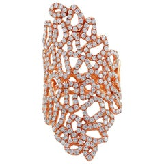 CJ Charles 18 Karat Rose Gold Diamond Lace Ring