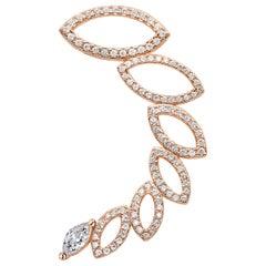 18 Karat Rose Gold Diamond Left Ear Cuff Earring