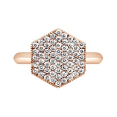 18 Karat Rose Gold Diamond Pave Ring