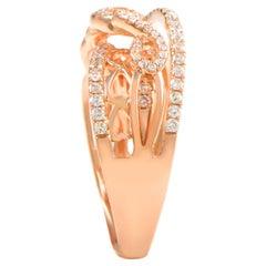 18 Karat Rose Gold Diamond Ring