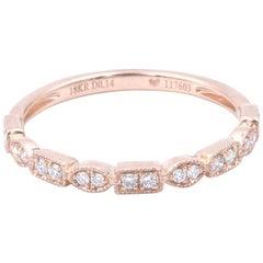 18 Karat Rose Gold Diamond Wedding Band