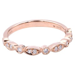 18 Karat Rose Gold Diamond Wedding Band